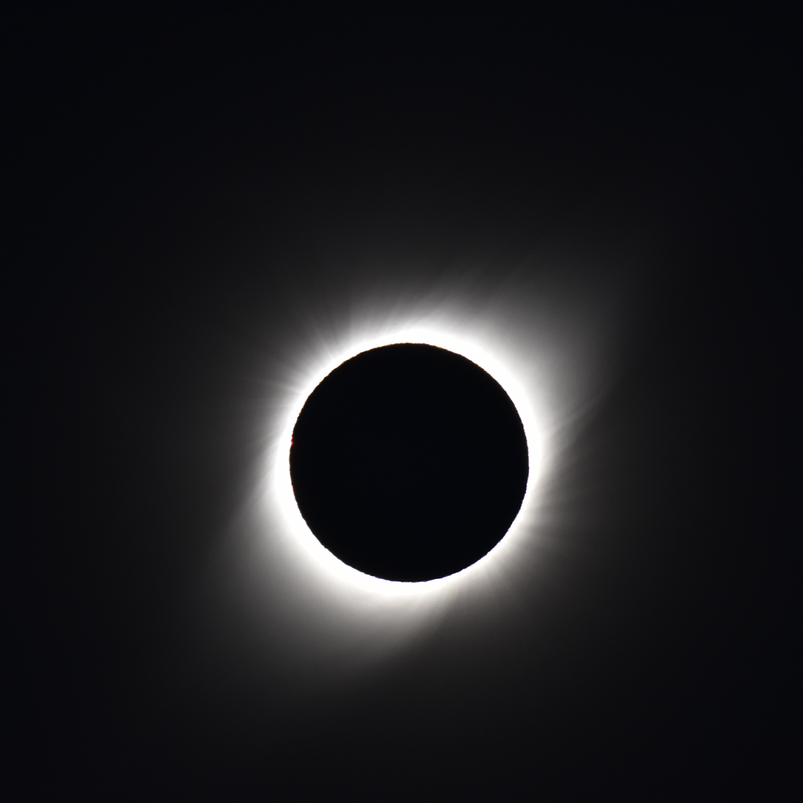 A photo of the total eclipse in Chile