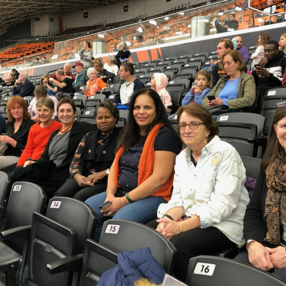 Princeton alumnae attend Women's basketball game