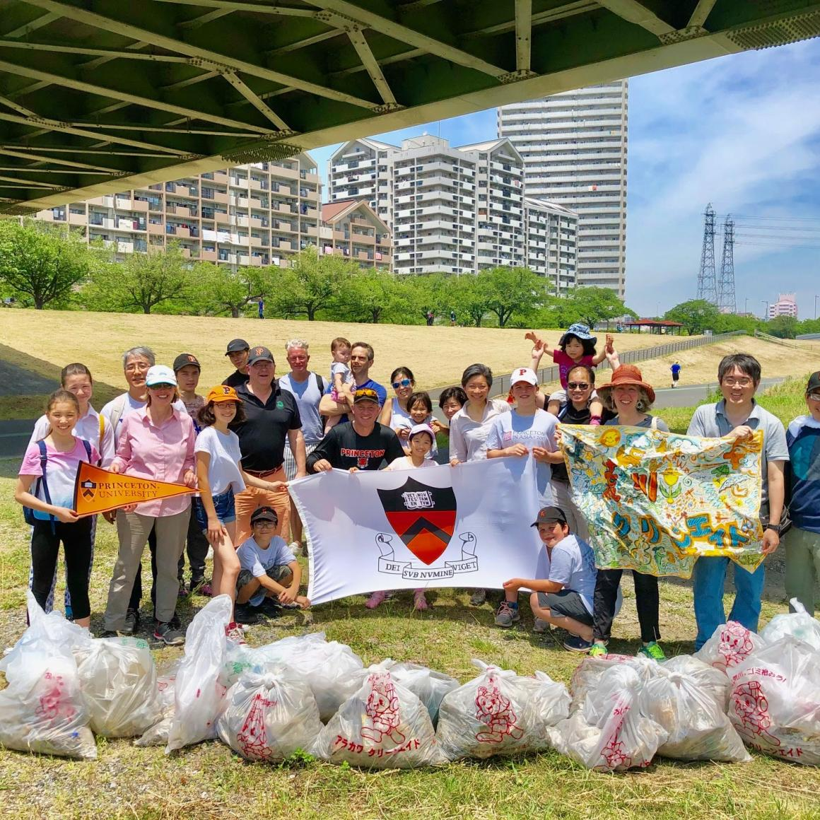 Japan Club River Clean Up