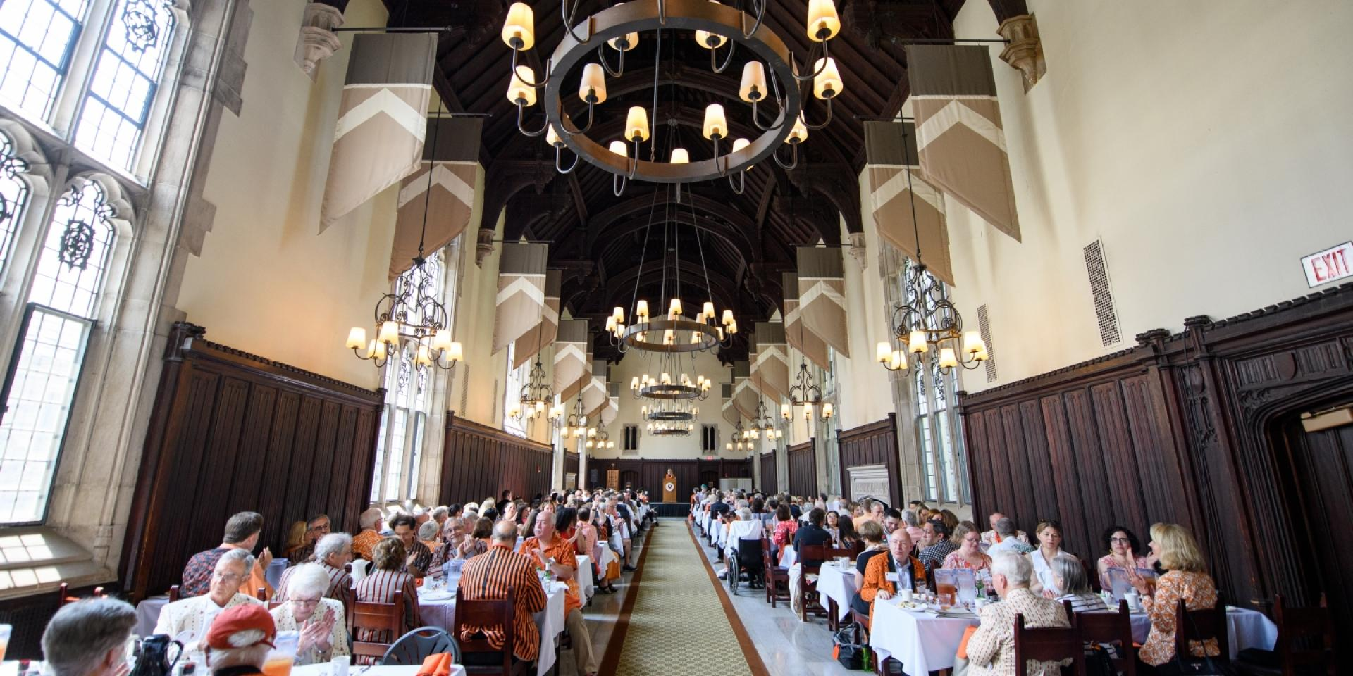 Alumni Council meeting in Rocky Dining Room during Reunions