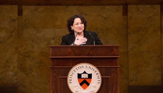 Justice Sonia Sotomayor '76 at Alumni Day in 2014