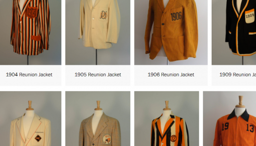 Class Jackets as they appear on a website.